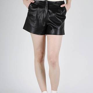 Superdry  Kraťasy Superdry LILYA PLEAT LEATHER LIKE SHORT Čierna